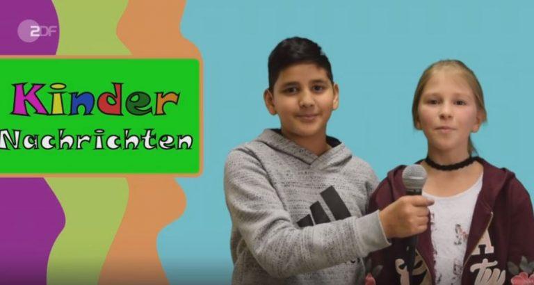 Seite des ZDF zum Wettbewerb Kindernachrichten
