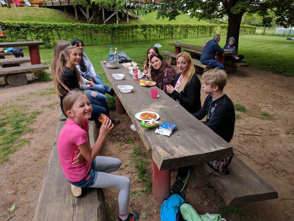 Die Klasse 4b im Kletterwald Bad Marienberg